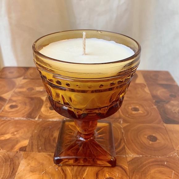 Candle in Vintage Goblet